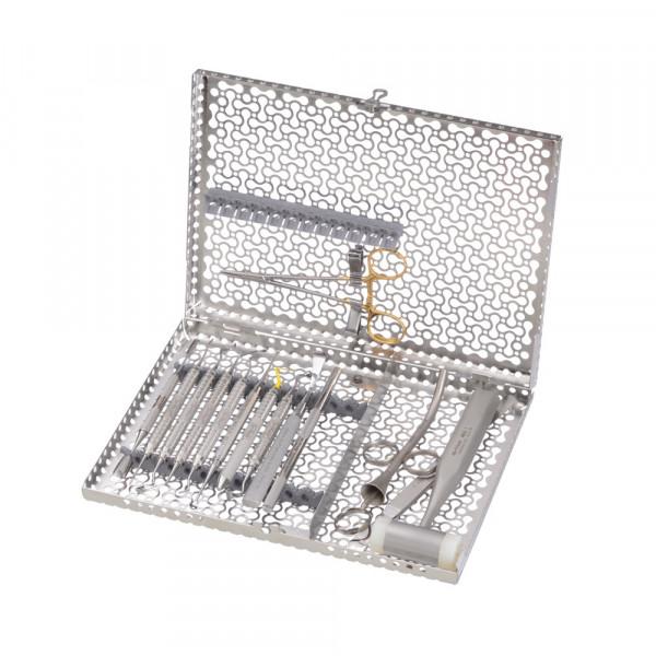 IMS Infinity Kassette , 12 Instrumente, gross, mit Zubehörfach, grau