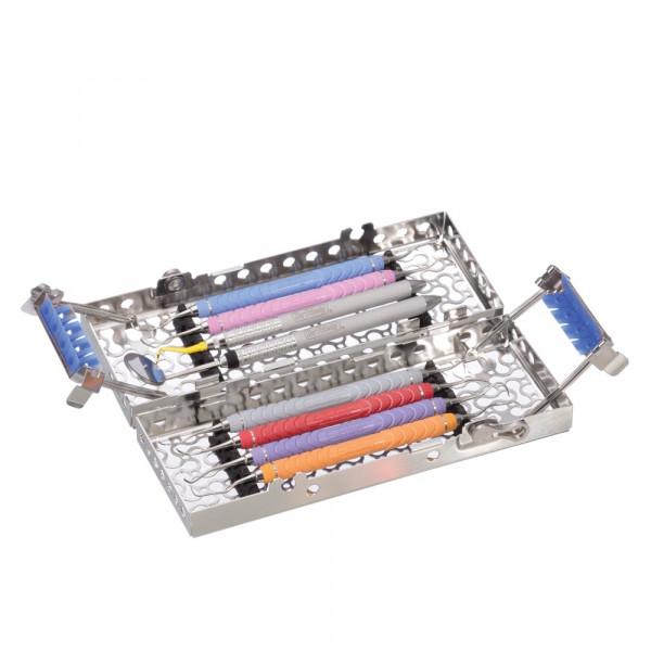 IMS Infinity Series Double Decker Kassette , 8 Instrumente, türkis